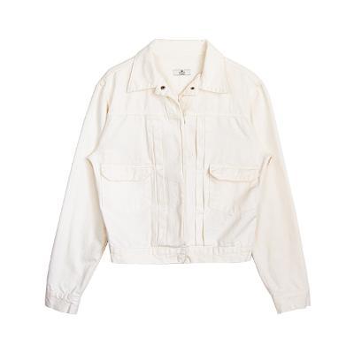 pocket short zip up jumper
